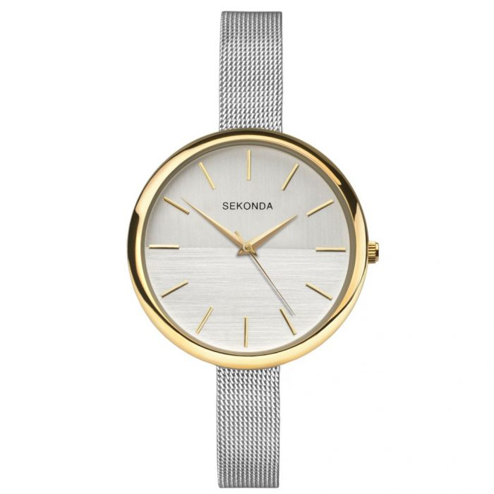 Ženski Sekonda srebrni sat od čelika sa zlatnim detaljima