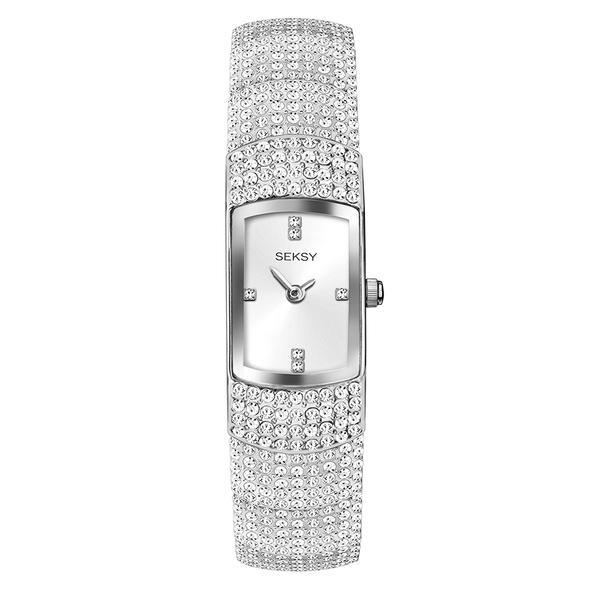 Ženski Sekonda Seksy srebrni sat sa Swarovski kristalima