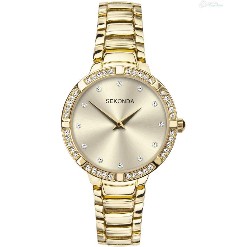 Ženski Sekonda zlatni sat sa šampanjac brojčanikom i cirkonima