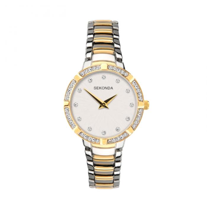 Ženski Sekonda sat u zlatnoj i srebrnoj boji sa cirkonima